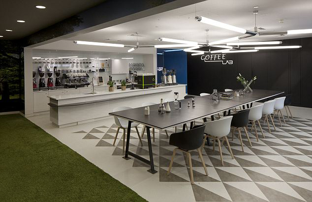 The coffee lab at google london hq dear coffee i love you for Office design victoria